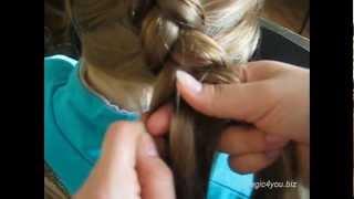 Видео Вывернутая коса наискосок