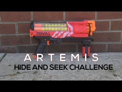 Nerf Battle: Hide and Seek Challenge Episode 2 (Artemis)