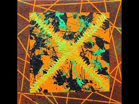 """Abstract Painting Art Demo - """"Helloween"""" (w/Voiceover) Embrace The Matrix @embracematrix"""