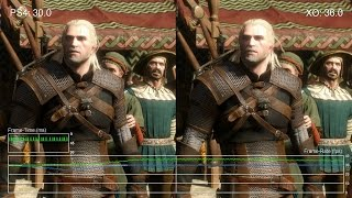 The Witcher 3: Wild Hunt - PS4 vs Xbox One Frame-Rate Test