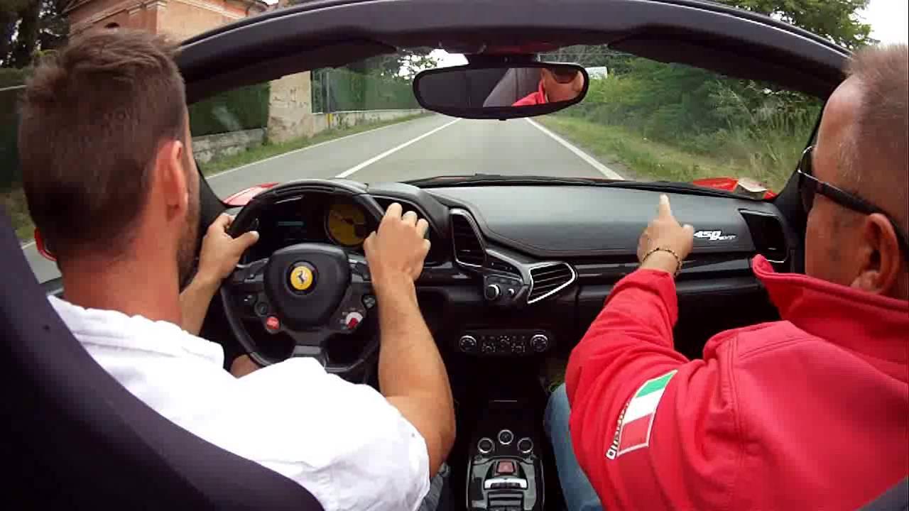 Ferrari 458 Italia spyder test drive, Maranello, Italy