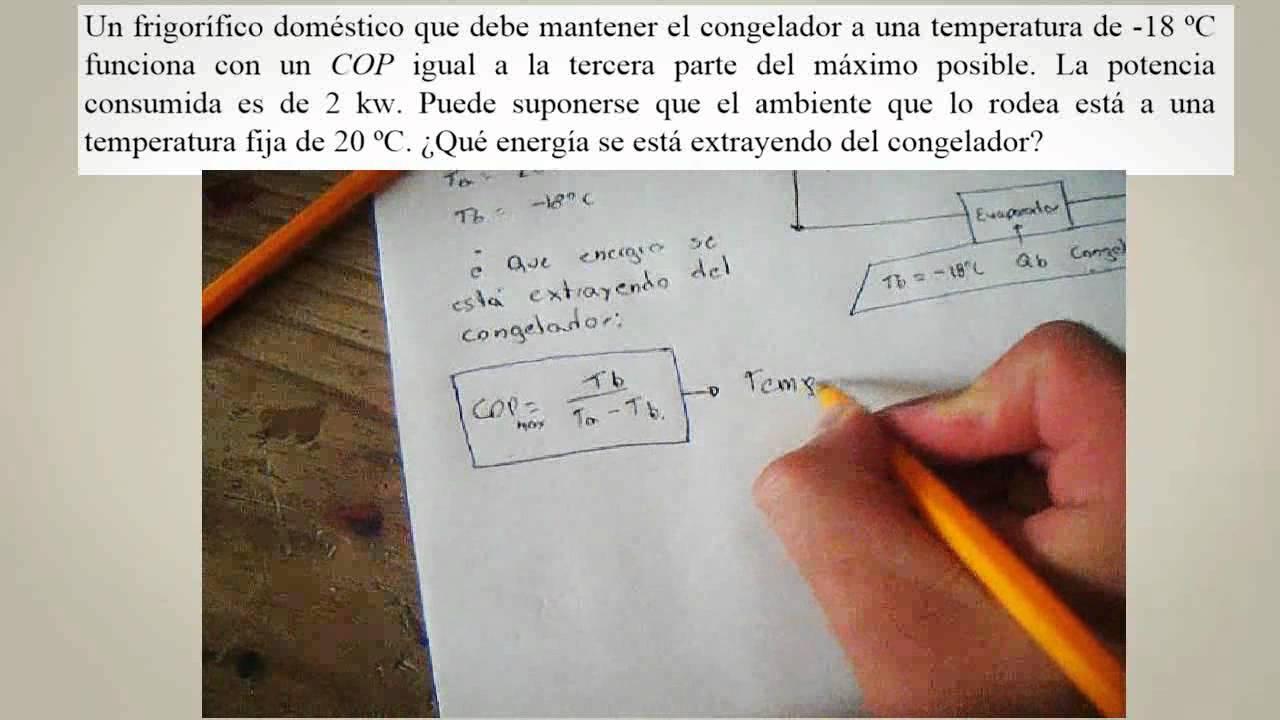 ejercicios de bomba de calor termodinamica