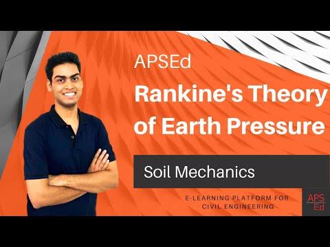 Rankine's Theory of Earth Pressure | Soil Mechanics