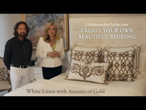Create Your Own Beautiful Bedding – White with Gold, Part 2