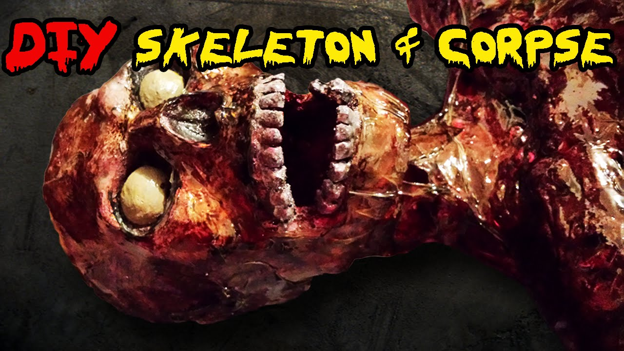 how to make a skeleton diy homemade skeleton and corpse halloween prop - Halloween Skeletons