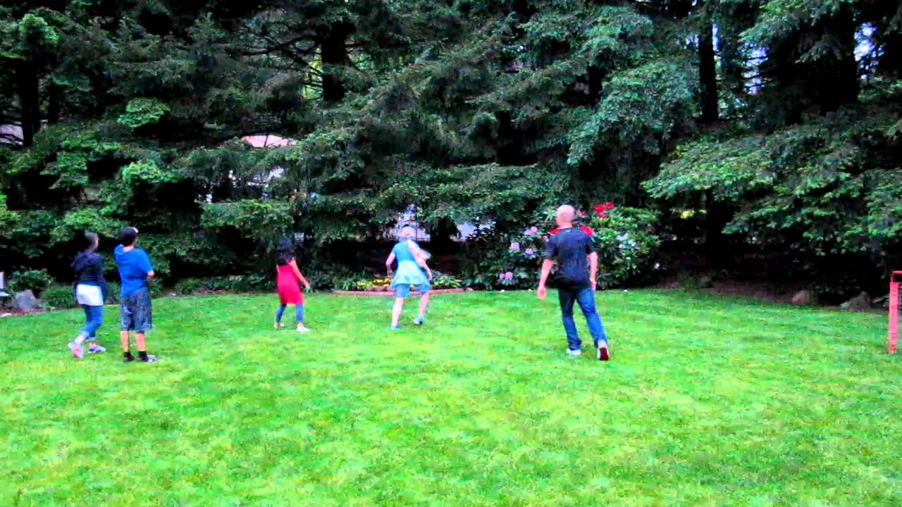 Bon 2011 Neil Birthday   Kids Playing Soccer In The Backyard   YouTube