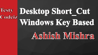 Computer shortcut most using commonly short_cut on window Desktop By Ashish Mishra from Testy Codeiz