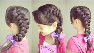 Hairstyle: Same Side Dutch Braid / Same Side Dutch Pancaked Braid | Chikas Chic