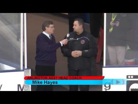 MyHockeyLive 17 Interview - Arlington Asst Coach Pregame Super8 Crossover