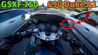 ARSOUILLE GSXF 750 VS 690 DUKE A2 feat. SML Crew !!!