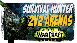 SURVIVAL HUNTER STILL HITS HARD!! hunter pvp wow legion patch 7.1.5