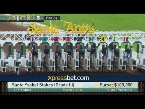 Santa Ysabel Stakes (Gr. III) - Saturday, March 5, 2016 HD