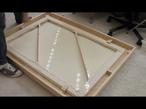 How to make a large wooden picture frame youtube for How to make canvas painting
