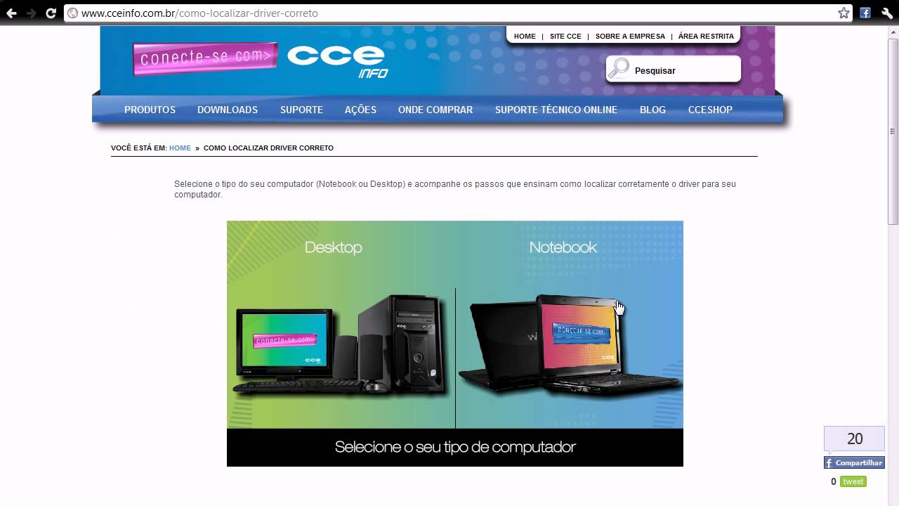 driver de rede cce info windows 7