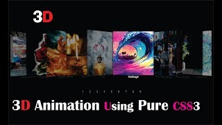 Pure CSS 3D Image Transition | HTML & CSS