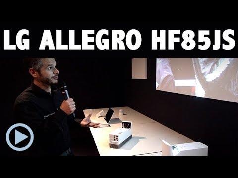 LG Allegro LG HF85JS - FullHD Laser Kurzdistanz Beamer mit Smart TV - IFA 2017 Nahdistanz