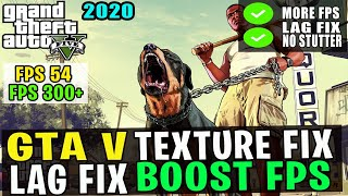 🔧 GTA 5 Increase FPS / Performance And Fix Lag On Low End PC | GTA 5 Texture Not Loading Fix [2020]