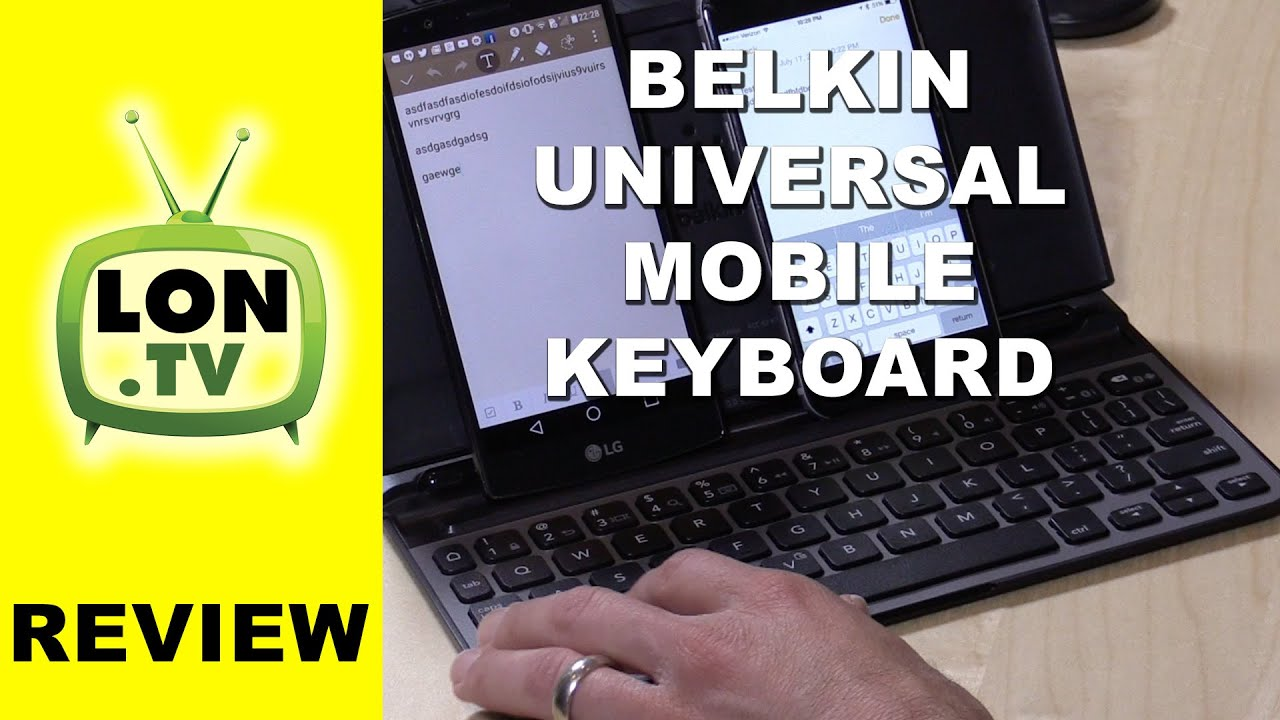 Belkin Universal Mobile Keyboard Review - Connects two phones / tablets via  Bluetooth simulatenously