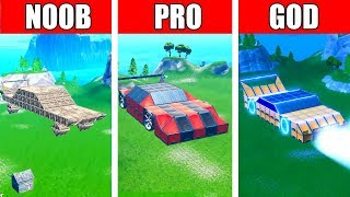 Fortnite NOOB vs PRO vs GOD: SUPERCAR CHALLENGE in Fortnite