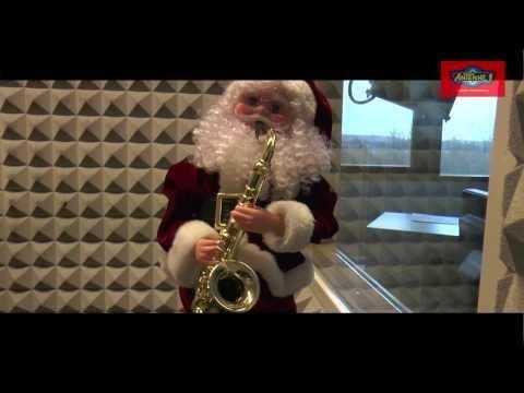 antenne 1 Moderator Martin (Weihnachts-) Baum als Weihnachtsmann