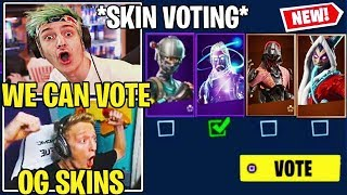 "Streamers USING *NEW* Fortnite ITEM SHOP ""VOTING""!! (OG Skins BACK)"