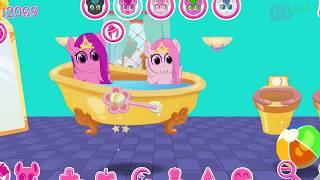 Замок принцесс для маленьких принцесс карманных поняшек. Мультик игра для детей.