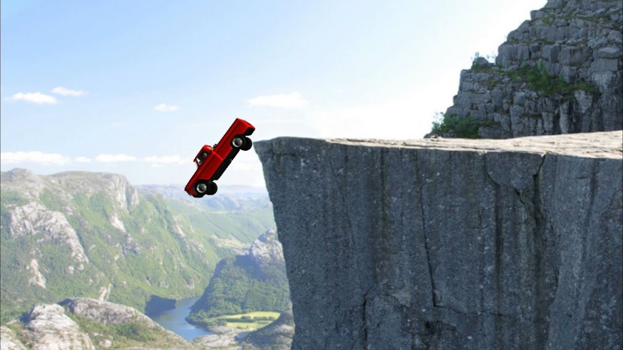 Image result for car cliff