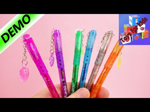 Colorful Glitter Tattoo Pens With Templates