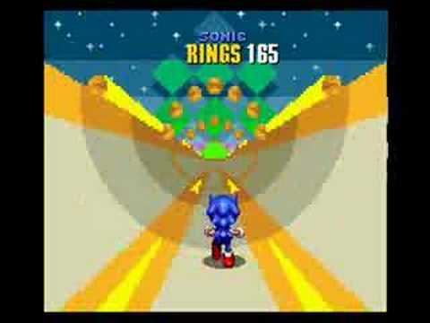 Sonic the hedgehog 2 all 7 chaos emeralds on emerald hill