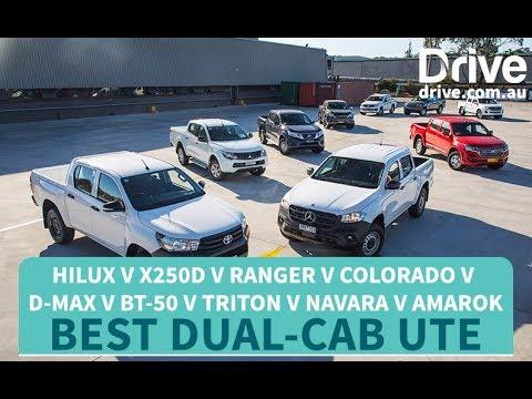 Best Dual-Cab Ute: 2018 HiLux v X250d v Ranger v Colorado v D-Max v BT-50 v Triton v Navara v Amarok