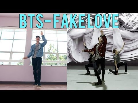 i attempted to learn BTS FAKE LOVE Dance Cover in a Day