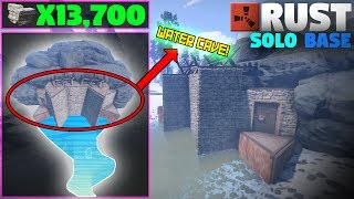 CHEAP STRONG Water Cave Solo Base Design | (Layout) Rust Base Building
