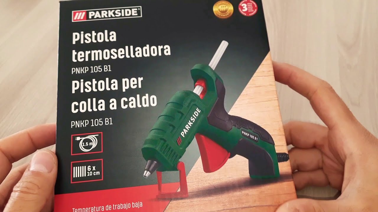 Pistola per colla a caldo Parkside riscalda in 1 minuto Guarda il video 👍