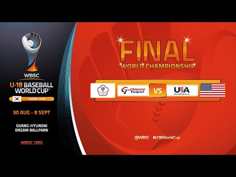 Chinese Taipei v USA -  U-18 Baseball World Cup 2019 - World Championship Final