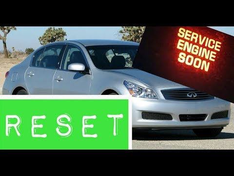 How To Reset Service Engine Soon Light On A 2008 Infiniti G35