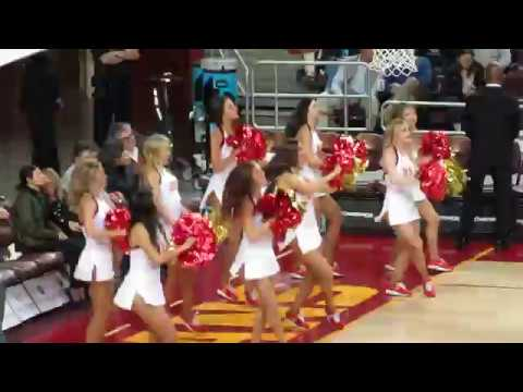 USC Song Girls - Timeout of USC vs Santa Clara 12/17/2017