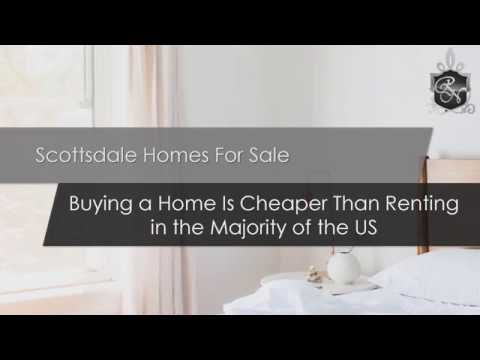 Scottsdale Homes For Sale | Buying a Home Is Cheaper Than Renting in the Majority of the US