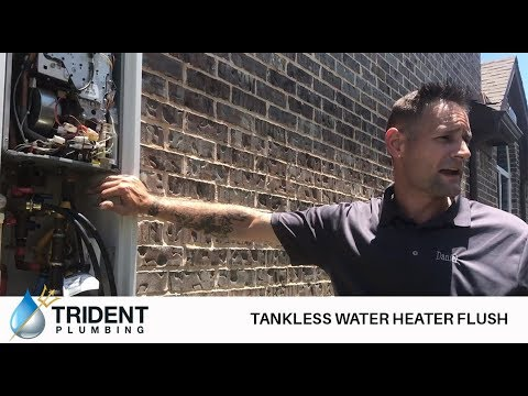 Tankless Water Heater Flush - Trident Plumbing - Little Elm, Frisco TX