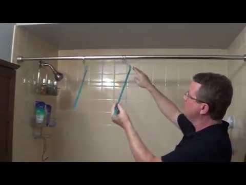 Curved Shower Rod Alternative - Widen Shower Curtain - Curvit
