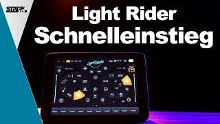 Wie funktioniert die Light Rider App?   Light Rider DJ APP Tutorials