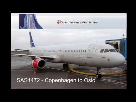 Twitch Stream - SAS1472 - Copenhagen to Oslo