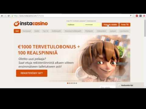 InstaCasino - Kuinka rekisteröityä insta casinolle?