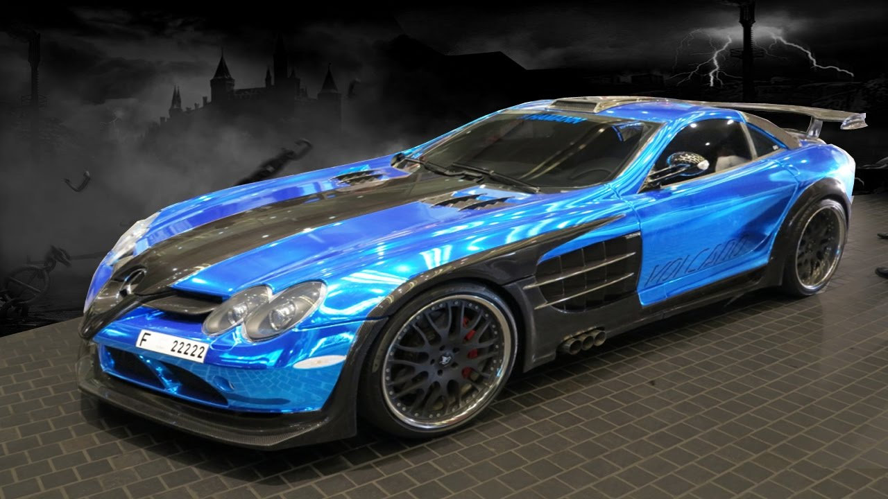 Chrome Blue Vinyl Wrapped Super Cars Youtube