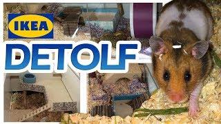 IKEA Detolf Hamster Edition ♥ Gehege Umbau ♥  Hamster Einrichtung ♥ Kreative Einrichtungen für Nager