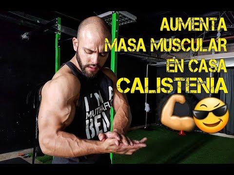 Se puede aumentar masa muscular con ejercicios en casa
