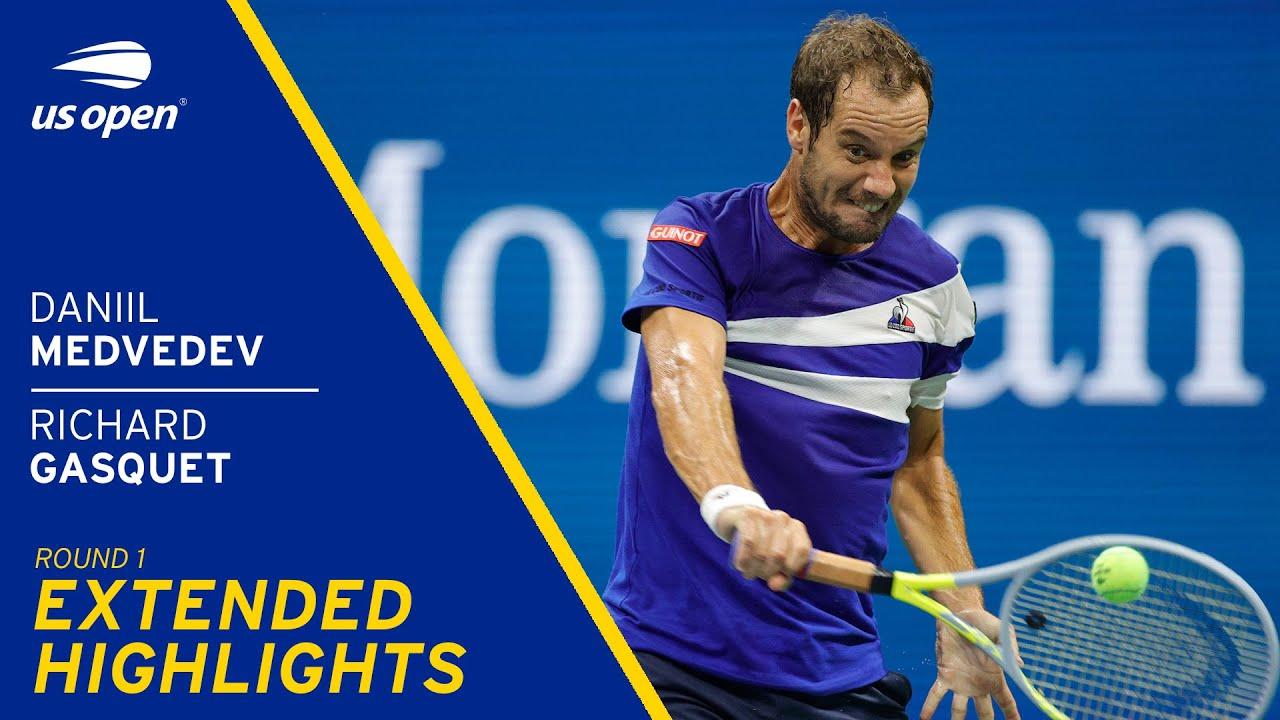 Daniil Medvedev vs Richard Gasquet Extended Highlights | 2021 US Open Round 1