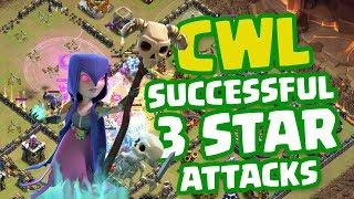 Clash of Clans • CLAN WAR LEAGUE (CWL) SUCCESSFUL 3 STAR ATTACK STRATEGIES