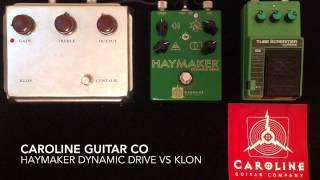 Caroline Guitar Co Haymaker vs Klon and Tube Screamer