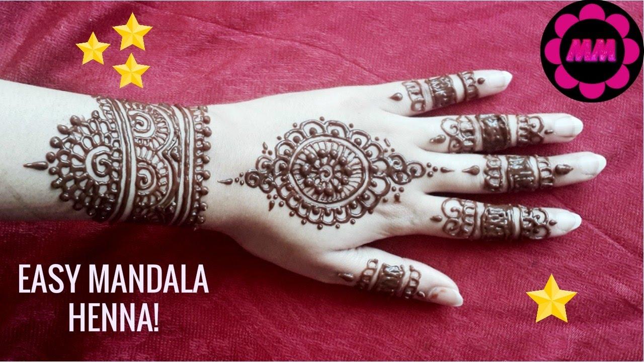 Diy Beautiful Mandala Henna Simple And Best Party Mehendi Easy