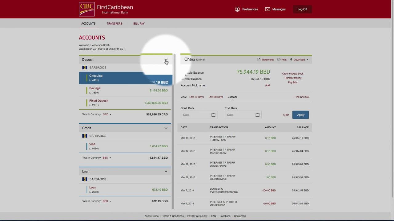 www firstcaribbeanbank com internet banking